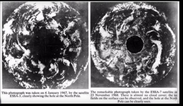 > Снимка, направена от НАСА, за която се твърди, че