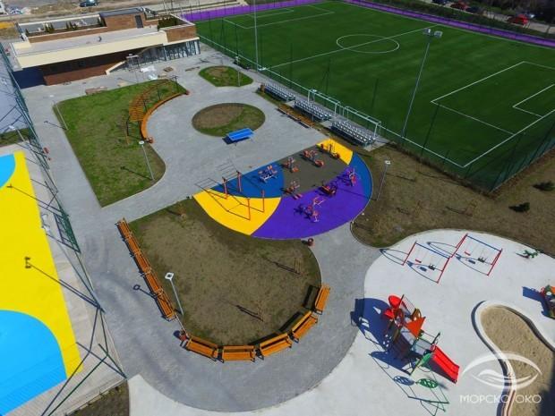 ФейсбукНовоизграденият спортен комплекс на ул.