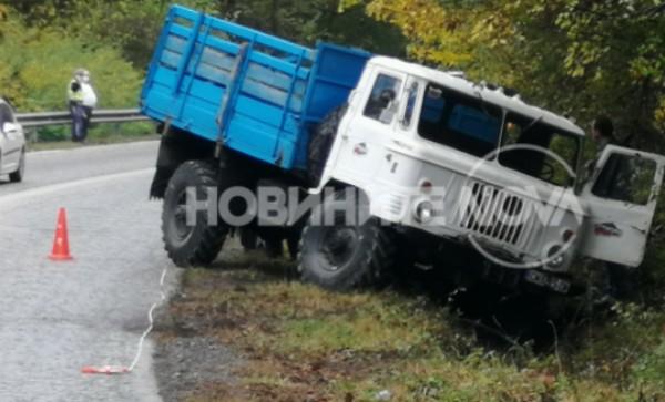 Тир катастрофира на главния път между Габрово и Велико Търново.