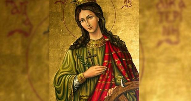 Църквата почита Великомъченица Екатерина - девойка от царски александрийски род.