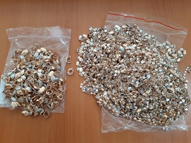 3.7 кг контрабандно пренасяни златни изделия на стойност близо 300