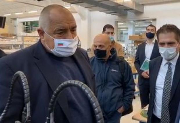 ПремиерътБойко Борисове на инспекция в завод в Пловдив, в който
