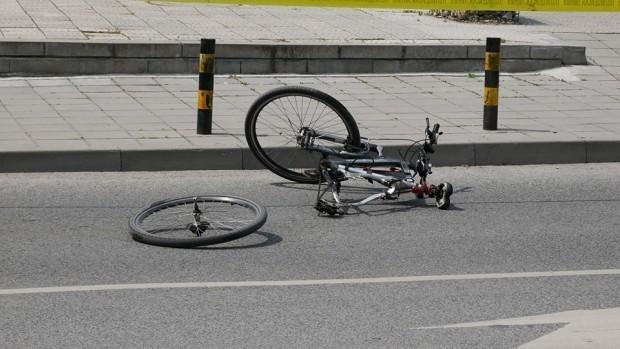 АрхивВследствие на ПТП-то велосипедистът е получил контузия на лява ръка,