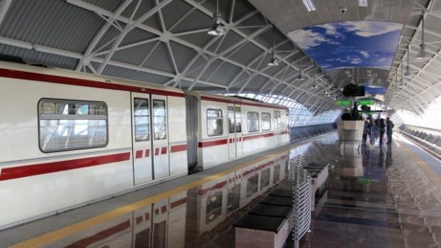 БГНЕСЕкшън в метрото на Летище София. На мястото има засилено