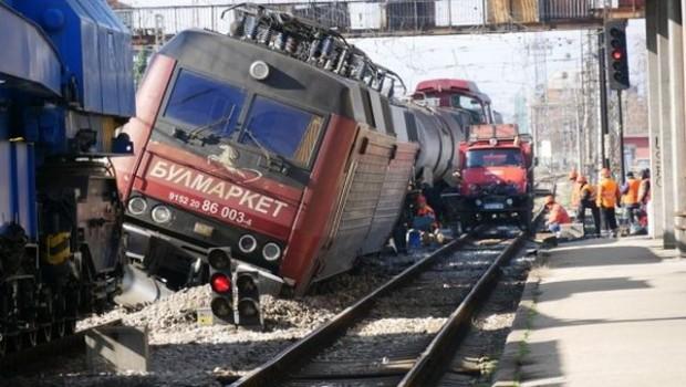 Архивна снимкаДнес, в 14:32 ч., при преминаване на влакова композиция