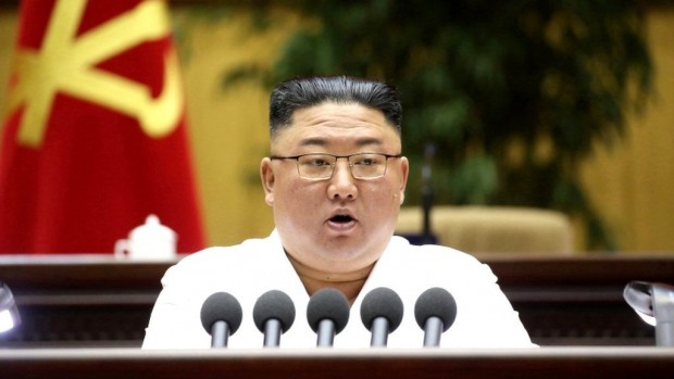EPAЛидерът на Северна Корея Ким Чен-ун в рамките на изказването