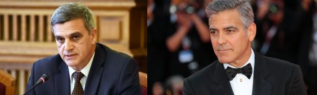 Сравниха премиерът Стефан Янев с световноизвестния актьор Джордж Клуни. Актьорът