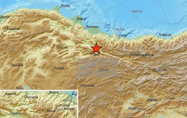 Земетресение с магнитуд 4,3 бе регистрирано днес в окръг Токат,