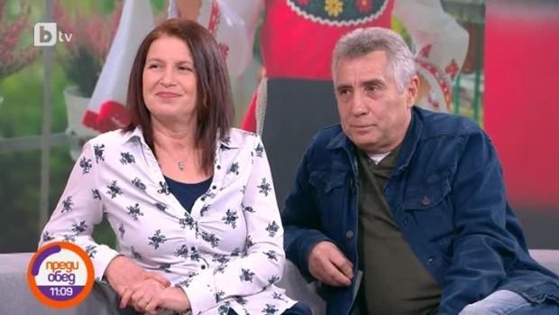 > Валенетин Танев със съпругата си Юлия