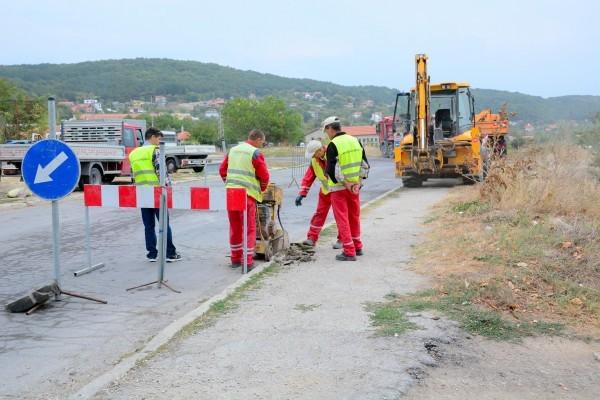 Във връзка със стартирали строително-монтажни работи и подмяна на ВиК