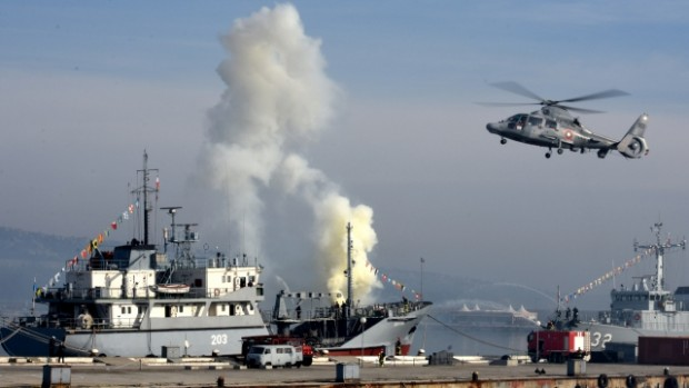 Черно море Гасене на пожар на кораб, спасяване на пострадал и