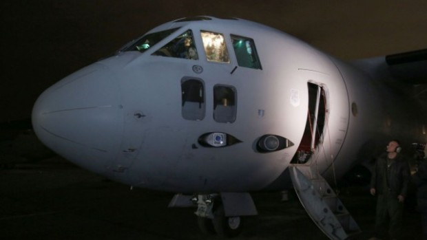 """Военнотранспортен самолет C-27J """"Спартан"""" е аварирал при извършване на учебна"""