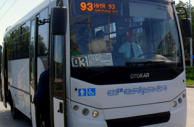 Снимка: Автобус 93 от днес с удължен маршрут до Радиново