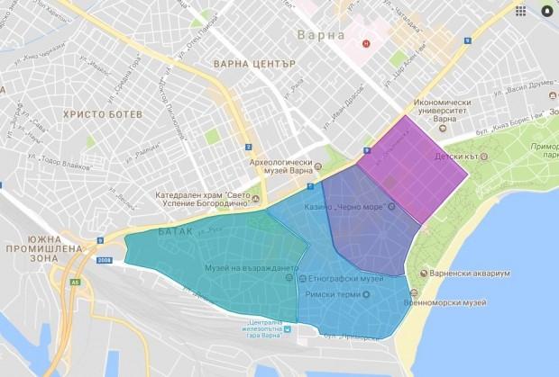 2603 паркоместа ще бъдат обособени в Синя зона – център