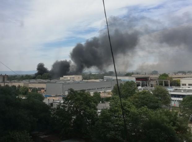 За голям пожар в Пловдив съобщи току-що редовен читател на