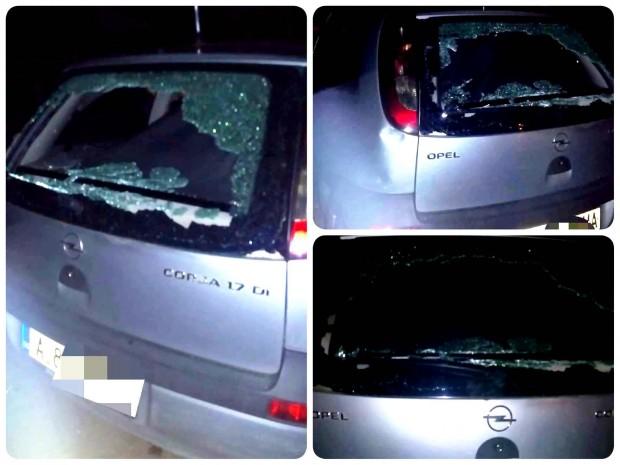 Varna24.bg Неизвестни атакуваха с камъни автомобил на паркинг в бургаския
