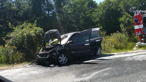 Автомобил изгоря на пътя Симитли - Банско. Инцидентът е станал