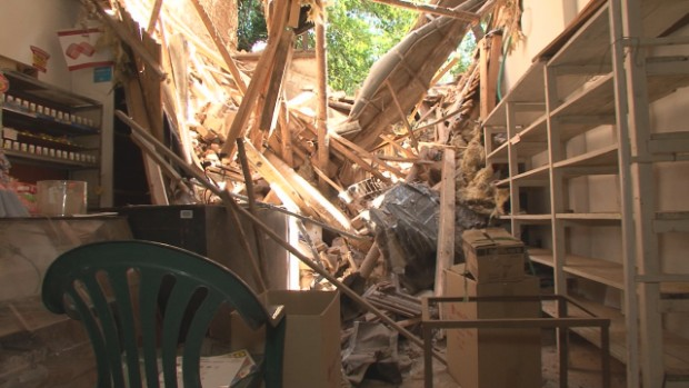 bTV Още поражения от дъждовете във врачанската община Хайредин – стена