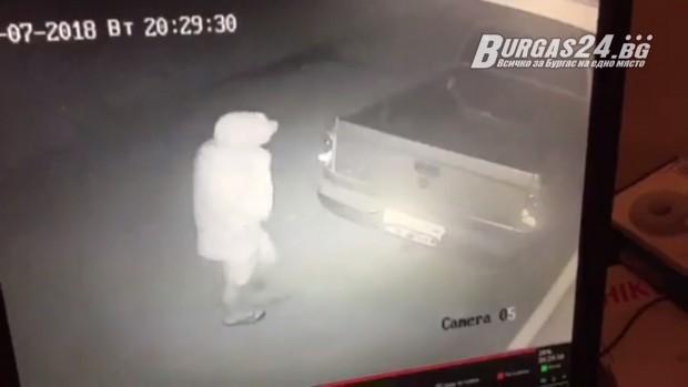 Нагъл крадец обра бургаско семейство, покатервайки се по тераса. Това
