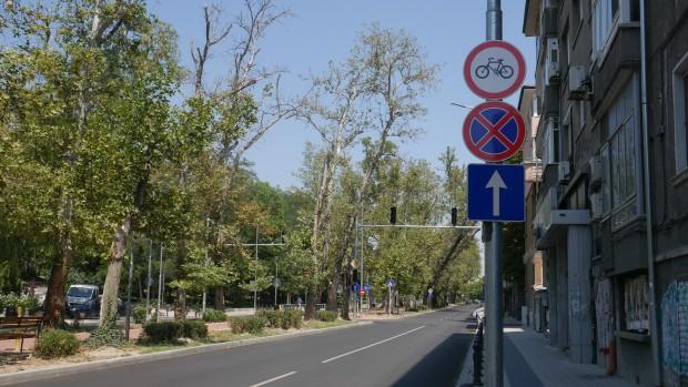 Забраниха движението на велосипедисти по бул.