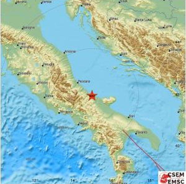 Земетресение с магнитуд 5,0 разтърси Централна и Източна Италия преди