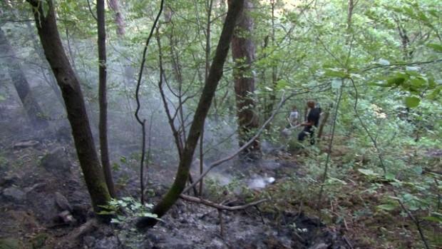bTV Големият пожар над Карлово е локализиран от снощи, но продължава