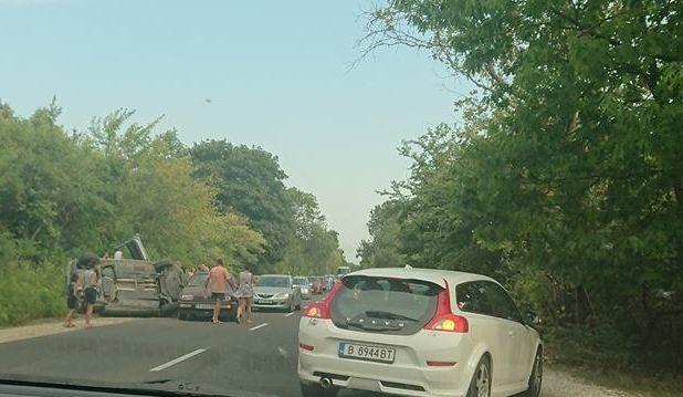 Фейсбук Вчера около 17:30 ч. на главния път Бургас – Варна,