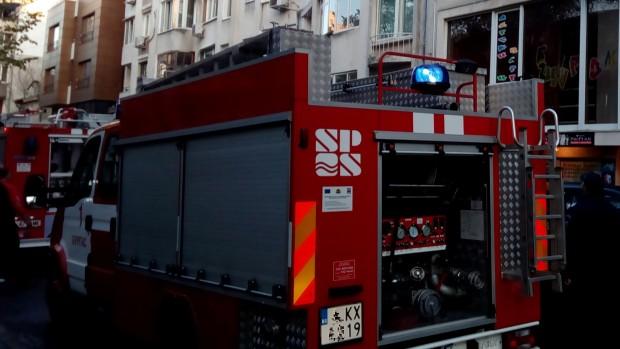 <div Вчера, около 16:40 часа, е получен сигнал за пожар