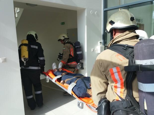 Днес бе проведено пожаро-тактическо занятие от Първа РСПБЗН - Пловдив