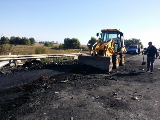 Приключи разчистването на магистрала