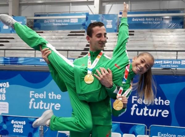 Смесената ни двойка в акробатиката Мариела Костадинова и Панайот Димитров