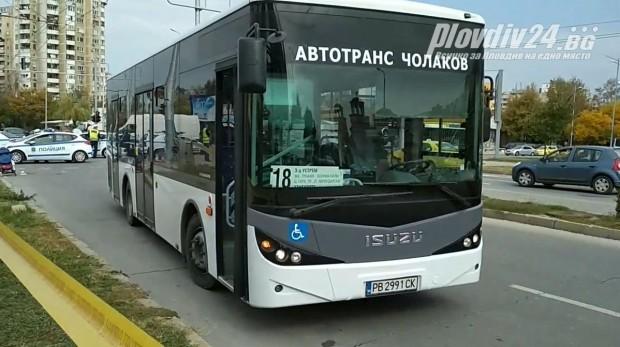 виж галерията Тежък инцидент в Пловдив. Жена е откарана в болница.