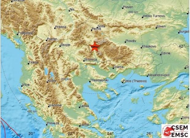 Слабо земетресение е станало на 10 км от Благоевград тази
