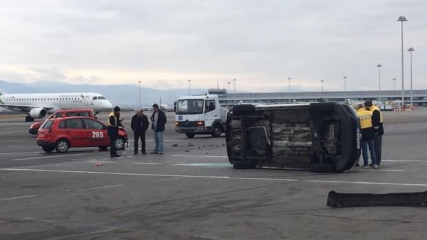 dir.bg виж галерията Катастрофа е станала на територията на летище