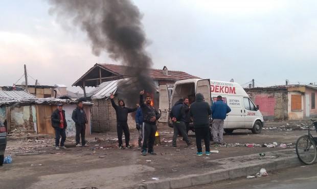 За горене на гуми до КАТ Пловдив сигнализира току-що читател