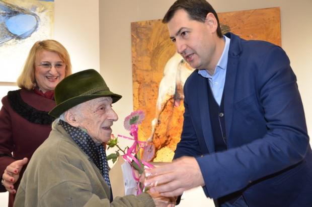 Доайенът на Дружеството на пловдивските художници Иван Поповски е тазгодишният