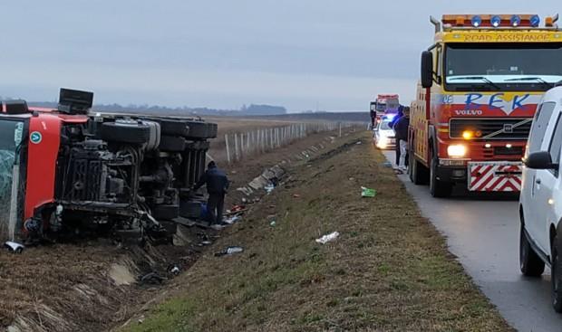 За катастрофа на магистрала