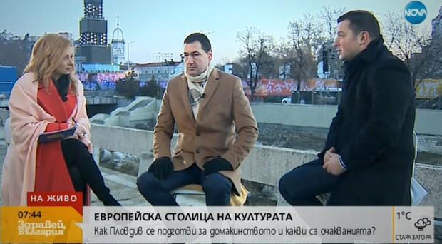 Водещият на сутрешния блок на Нова телевизия - Виктор Николаев,
