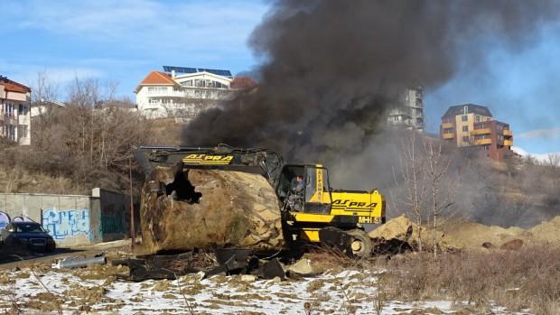 Снимка: Голям пожар горя в Благоевград