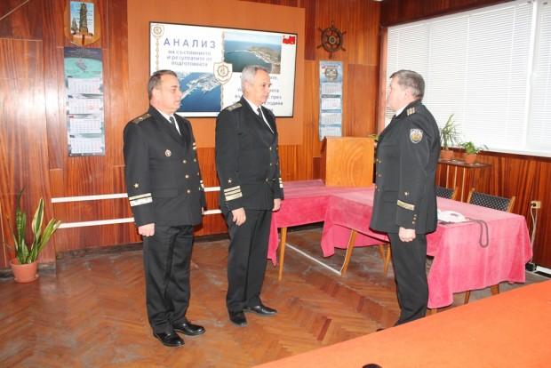 Днес 18 януари, във флотилия бойни и спомагателни кораби бе