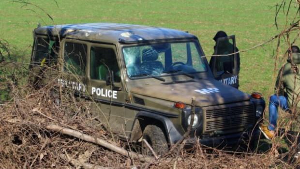 Снимка: Джип със служители на военна полиция