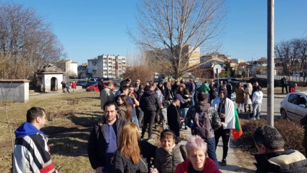 Снимка: Протест в Кюстендил след убийството в града