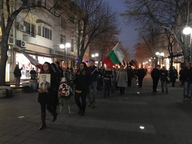 Снимка: Факелно шествие се проведе в Бургас