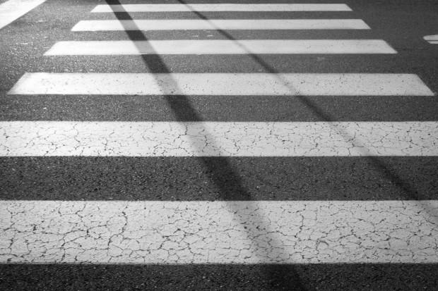 Снимка: Беля стана на пешеходна пътека във Варна