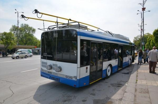<div Във връзка с въведените промени в маршрута на тролейбусния