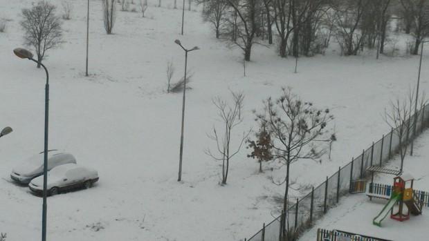 Първият истински сняг в Пловдив за тази зима е факт,