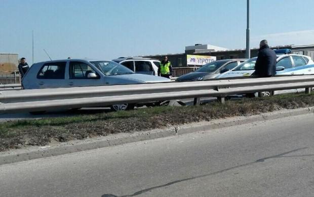 Снимка: Инцидент на Карловския надлез в Пловдив