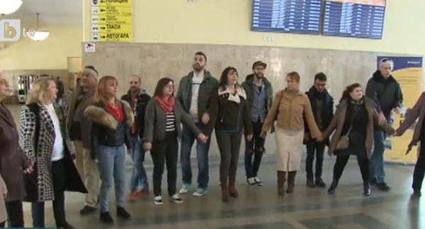 Снимка: Пловдивската Централна гара днес беше различна и нетрадиционна!
