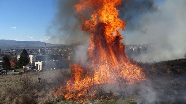 БГНЕС Около 15:44 часа вчера е получен сигнал за възникнал пожар