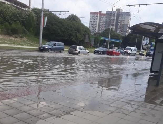 Виждам те КАТ-Варна Пороен дъжд, придружен със силни пориви на